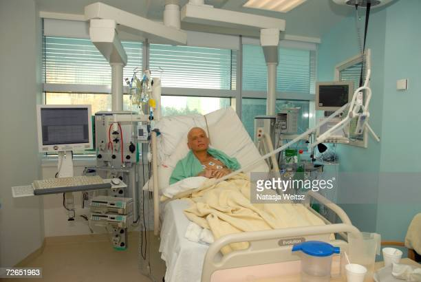 In this image made available on November 25 Alexander Litvinenko is pictured at the Intensive Care Unit of University College Hospital on November 20...