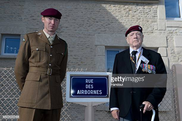 In this image provided by the Ministry of Defence, 3rd Battalion Parachute Regiment Private William Byers of Cockermouth in Cumbria and D-Day Veteran...