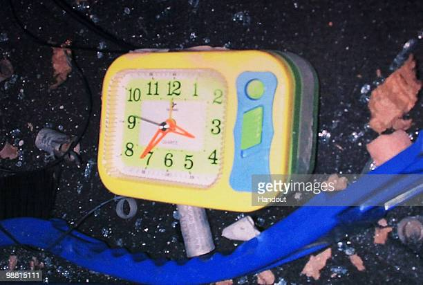 In this image provided by the New York City Police Department an alarm clock found in a dark SUV which is said to be in the vehicle with a bomb that...