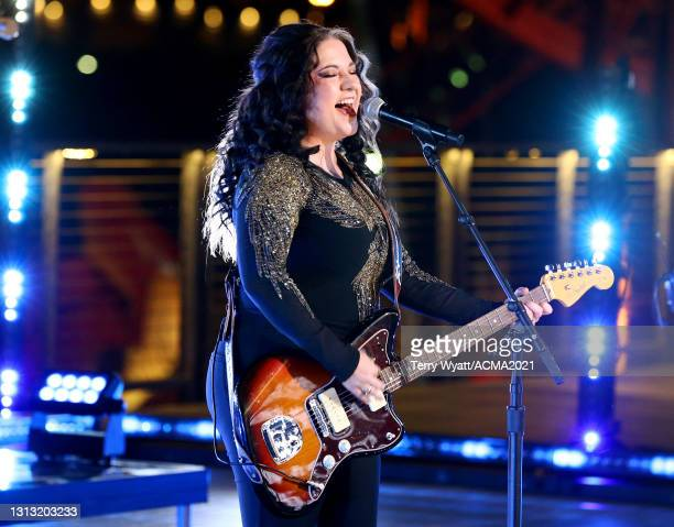 In this image released on April 18, Ashley McBryde performs at the 56th Academy of Country Music Awards on April 18, 2021 in Nashville, Tennessee.