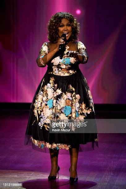 In this image released on April 18, CeCe Winans performs onstage at the 56th Academy of Country Music Awards at the Grand Ole Opry on April 18, 2021...