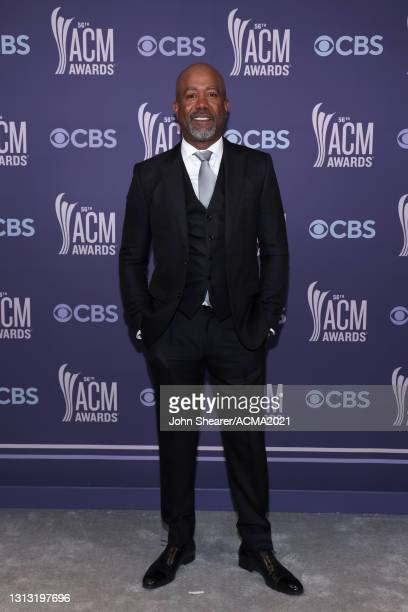 In this image released on April 18, Darius Rucker attends the 56th Academy of Country Music Awards at the Grand Ole Opry on April 18, 2021 in...