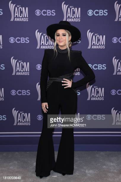 In this image released on April 18, Gabby Barrett attends the 56th Academy of Country Music Awards at the Grand Ole Opry on April 18, 2021 in...