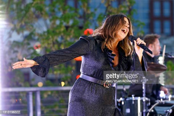 In this image released on April 18, Hillary Scott of Lady A performs at the 56th Academy of Country Music Awards on April 18, 2021 in Nashville,...