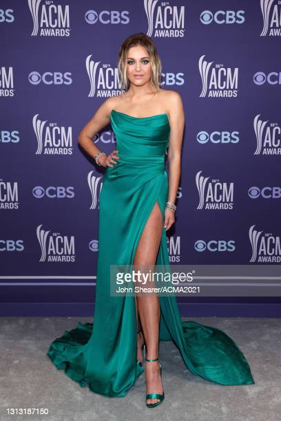 In this image released on April 18, Kelsea Ballerini attends the 56th Academy of Country Music Awards at the Grand Ole Opry on April 18, 2021 in...
