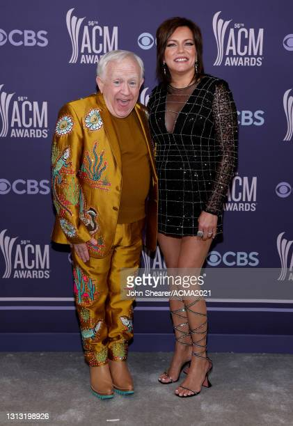 In this image released on April 18, Leslie Jordan and Martina McBride attend the 56th Academy of Country Music Awards at the Grand Ole Opry on April...