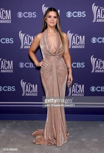 In this image released on April 18, Maren Morris attends the 56th Academy of Country Music Awards at the Grand Ole Opry on April 18, 2021 in...