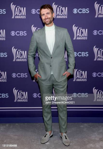 In this image released on April 18, Ryan Hurd attends the 56th Academy of Country Music Awards at the Grand Ole Opry on April 18, 2021 in Nashville,...