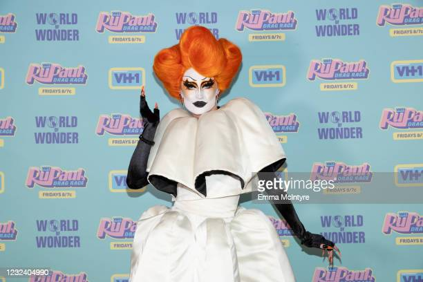 In this image released on April 19, Gottmik attends RuPaul's Drag Race Season 13 Finale at Ace Hotel on April 08, 2021 in Los Angeles, California.