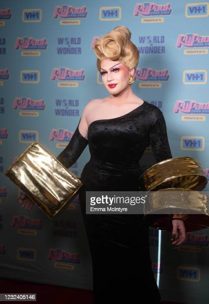In this image released on April 19, Rosé attends RuPaul's Drag Race Season 13 Finale at Ace Hotel at Ace Hotel on April 08, 2021 in Los Angeles,...
