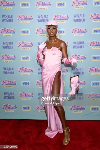 In this image released on April 19, Symone attends RuPaul's Drag Race Season 13 Finale at Ace Hotel at Ace Hotel on April 08, 2021 in Los Angeles,...