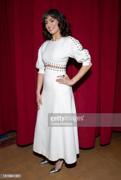 In this image released on April 22, host Melissa Villaseñor behind the scenes of the 2021 Film Independent Spirit Awards at Post 43 in Los Angeles,...