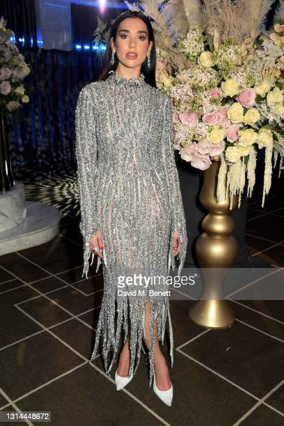 In this image released on April 25, Dua Lipa attends the 29th Annual Elton John AIDS Foundation Academy Awards Viewing Party on April 25, 2021.