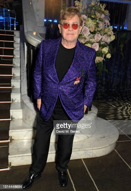 In this image released on April 25, Sir Elton John attends the 29th Annual Elton John AIDS Foundation Academy Awards Viewing Party on April 25, 2021.