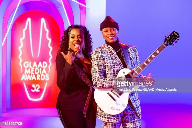 In this image released on April 8, Niecy Nash and Jessica Betts attend The 32nd Annual GLAAD Media Awards broadcast on April 08, 2021.