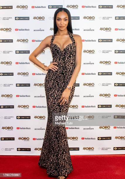 In this image released on December 09, Jourdan Dunn attends the 2020 MOBO Awards held at Exhibition London on December 07, 2020 in London, England....