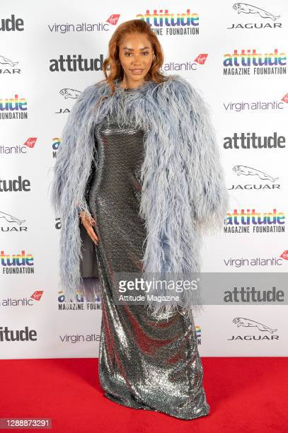 In this image released on December 1 Model Munroe Bergdorf poses on the red carpet during the Virgin Atlantic Attitude Awards Powered By Jaguar...