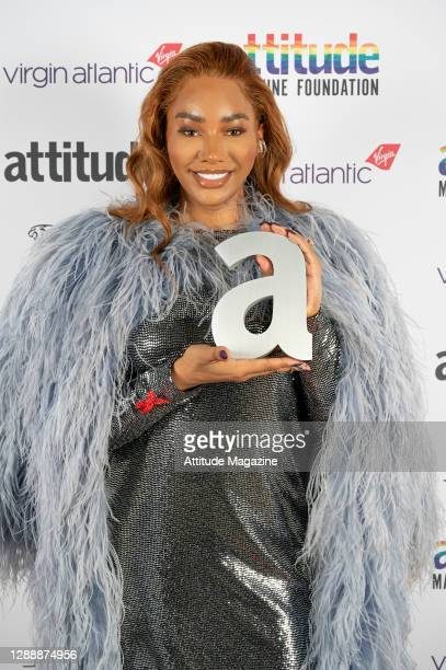 In this image released on December 1 Model Munroe Bergdorf poses with The Hero Award during the Virgin Atlantic Attitude Awards Powered By Jaguar...