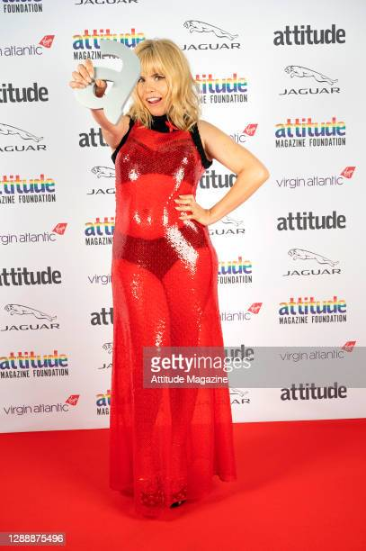 In this image released on December 1 Singer Paloma Faith poses with The Honorary Gay Award during the Virgin Atlantic Attitude Awards Powered By...