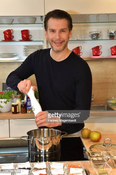 In this image released on December 16, Florian Odendahl during a live cooking show on November 28, 2020 at Moebel Hoeffner in Munich, Germany.
