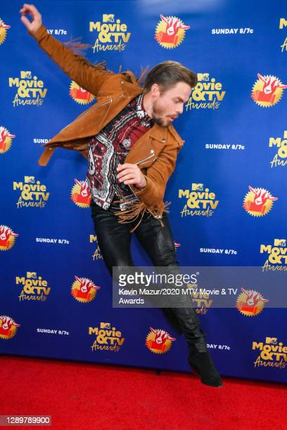 In this image released on December 6, Derek Hough attends the 2020 MTV Movie & TV Awards: Greatest Of All Time broadcast on December 6, 2020.