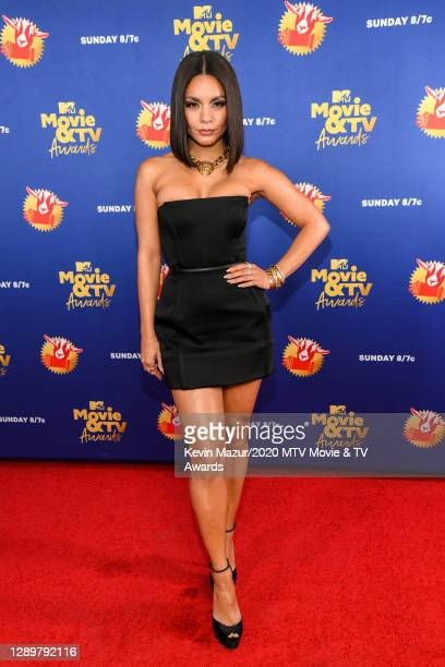 In this image released on December 6, Vanessa Hudgens attends the 2020 MTV Movie & TV Awards: Greatest Of All Time broadcast on December 6, 2020.