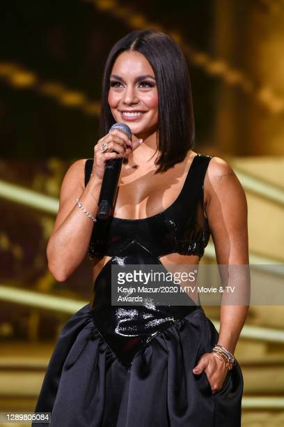 In this image released on December 6, Vanessa Hudgens performs at the 2020 MTV Movie & TV Awards: Greatest Of All Time broadcast on December 6, 2020.