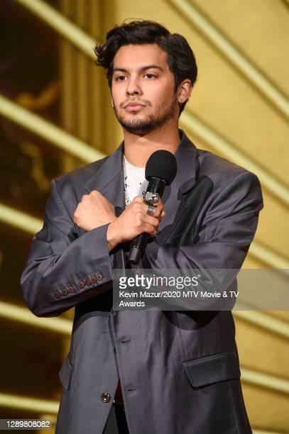 In this image released on December 6, Xolo Mariduena from Cobra Kai performs at the 2020 MTV Movie & TV Awards: Greatest Of All Time broadcast on...