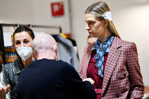 ITA: Maryling - Backstage - Milan Fashion Week Fall/Winter 2021/2022