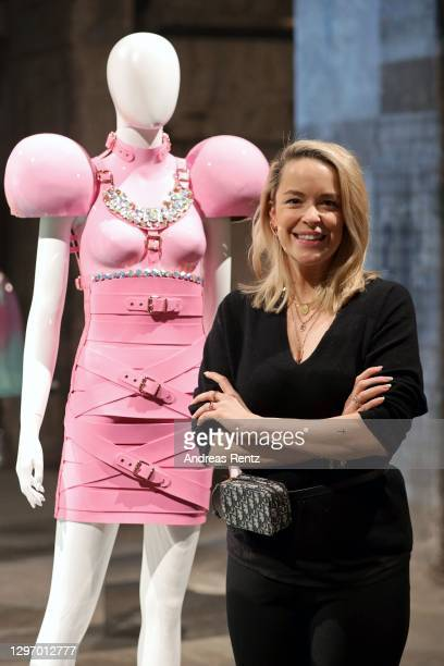 """In this image released on January 18, Marina Hoermanseder poses during the """"Der Berliner Salon Group Presentation"""" at the Mercedes-Benz Fashion Week..."""