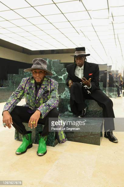 In this image released on January 21st, Yasiin Bey and Saul Williams pose on the runway during the Louis Vuitton Menswear Fall/Winter 2021-2022 show...