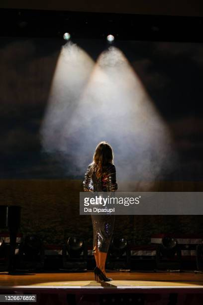 In this image released on July 02; Grammy Award-winning country star Jennifer Nettles performs from Town Hall in Times Square, NY for A Capitol...