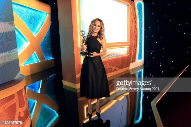 In this image released on June 25, Giada De Laurentiis poses during the 48th Annual Daytime Emmy Awards broadcast on June 25, 2021.