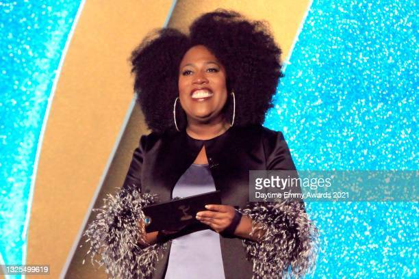 In this image released on June 25, Sheryl Underwood speaks during the 48th Annual Daytime Emmy Awards broadcast on June 25, 2021.
