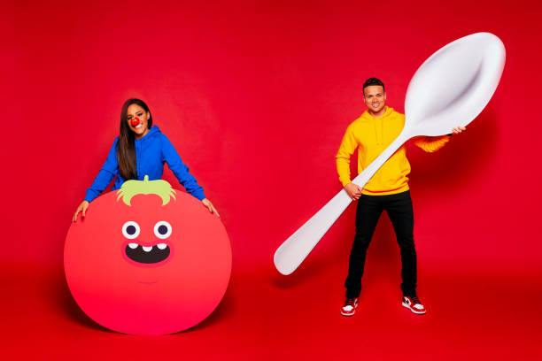 GBR: The Red Nose and Spoon Race For Red Nose Day 2021 Portrait Session
