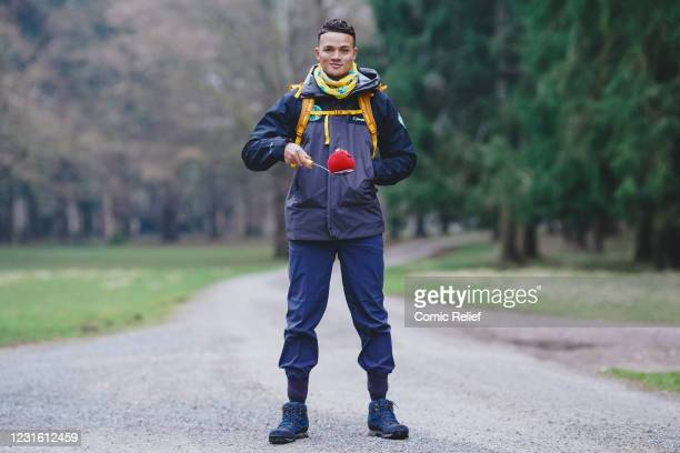 In this image released on March 10 Jermaine Jenas during Day 1 of The One Show's Red Nose and Spoon Race on March 8,2021 in England. Alex Scott and...