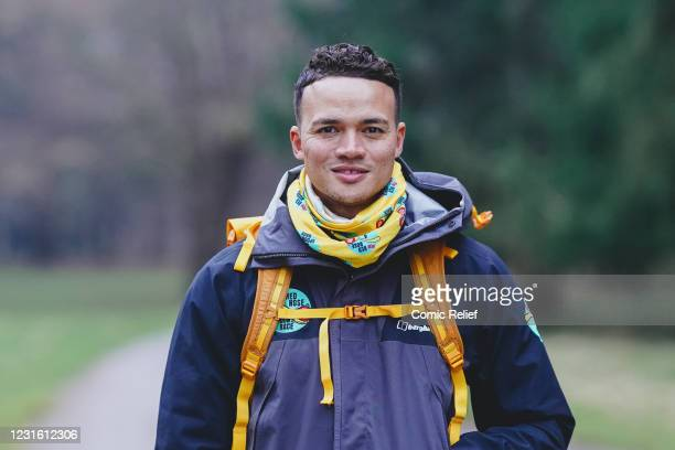In this image released on March 10 Jermaine Jenas walks during Day 1 of The One Show's Red Nose and Spoon Race on March 8,2021 in England. Alex Scott...