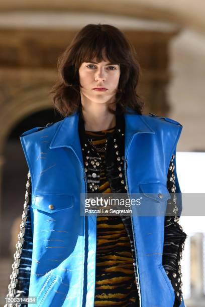 In this image released on March 10th, a model walks the runway during the Louis Vuitton as part of the Paris Fashion Week Womenswear Fall/Winter...
