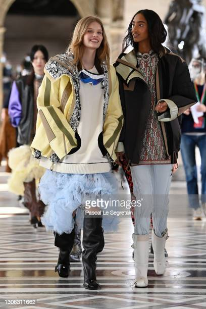 In this image released on March 10th, models walk the runway during the Louis Vuitton as part of the Paris Fashion Week Womenswear Fall/Winter...