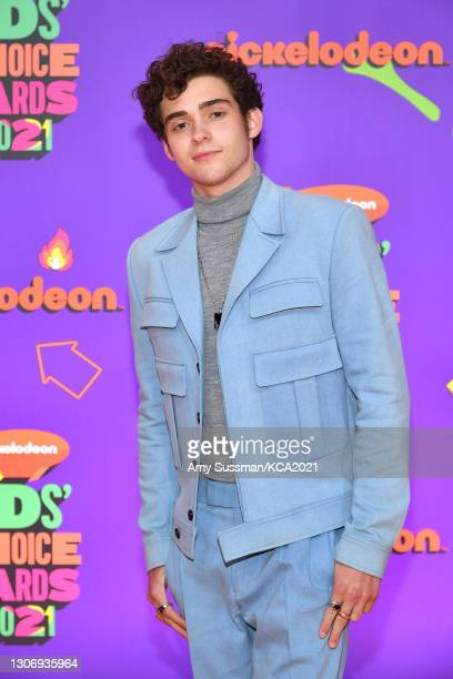In this image released on March 13, Joshua Bassett attends Nickelodeon's Kids' Choice Awards at Barker Hangar on March 13, 2021 in Santa Monica,...