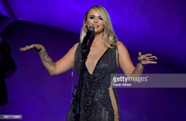 In this image released on March 14, Miranda Lambert performs onstage during the 63rd Annual GRAMMY Awards at Los Angeles Convention Center in Los...