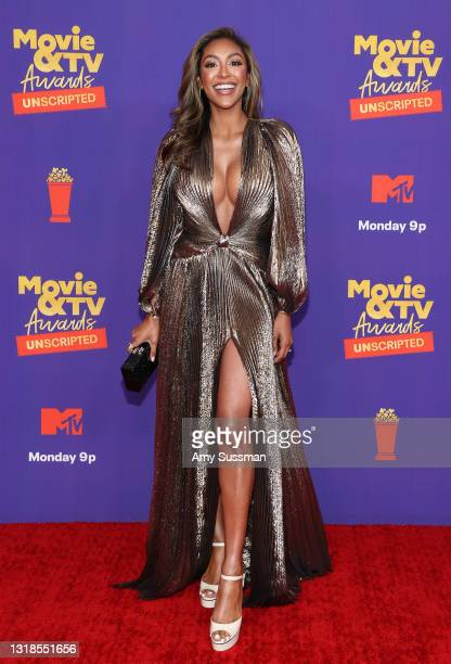 In this image released on May 17, Tayshia Adams attends the 2021 MTV Movie & TV Awards: UNSCRIPTED in Los Angeles, California.