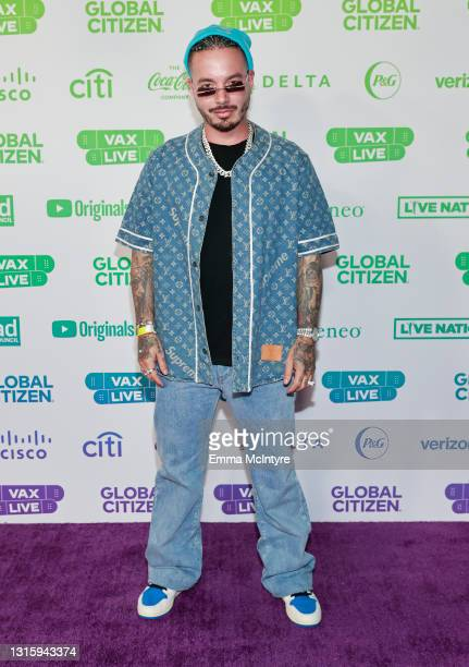 In this image released on May 2, J Balvin attends Global Citizen VAX LIVE: The Concert To Reunite The World at SoFi Stadium in Inglewood, California....
