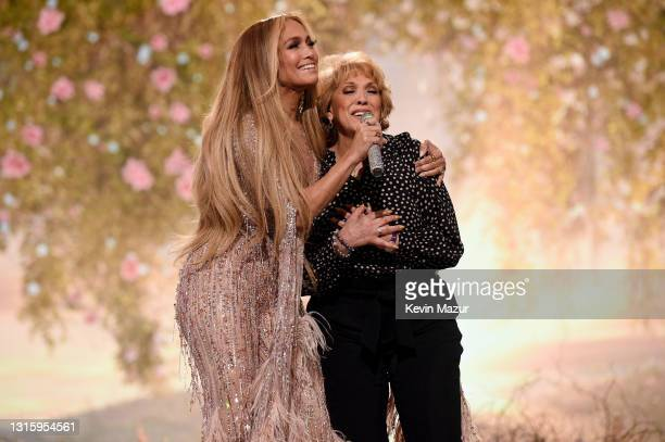 In this image released on May 2, Jennifer Lopez and Guadalupe Rodríguez perform onstage during Global Citizen VAX LIVE: The Concert To Reunite The...