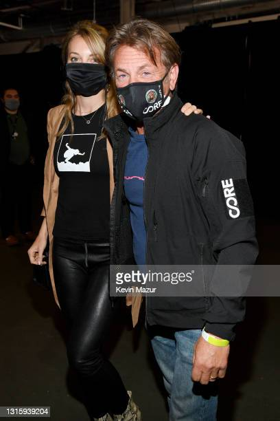In this image released on May 2, Leila George and Sean Penn attend Global Citizen VAX LIVE: The Concert To Reunite The World at SoFi Stadium in...