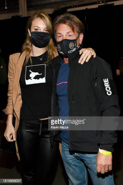 In this image released on May 2, Leila George and Sean Penn attends Global Citizen VAX LIVE: The Concert To Reunite The World at SoFi Stadium in...