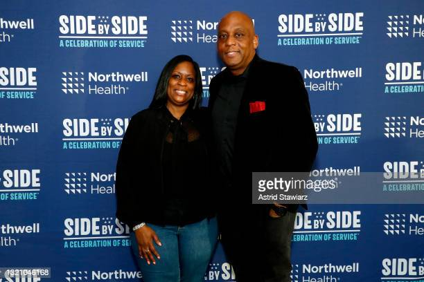 In this image released on May 31 Connie Robinson and Bernard Robinson attend Northwell Health's 2021 Side By Side: A Celebration of Service™ on May...