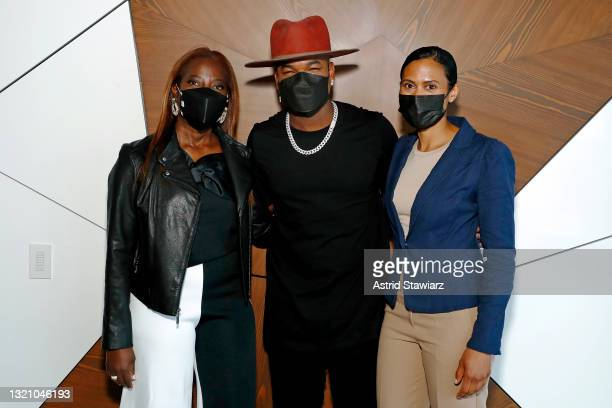 In this image released on May 31 Larissa Niewdach-Ebron, NE-YO, and Sandra Lindsay attend Northwell Health's 2021 Side By Side: A Celebration of...