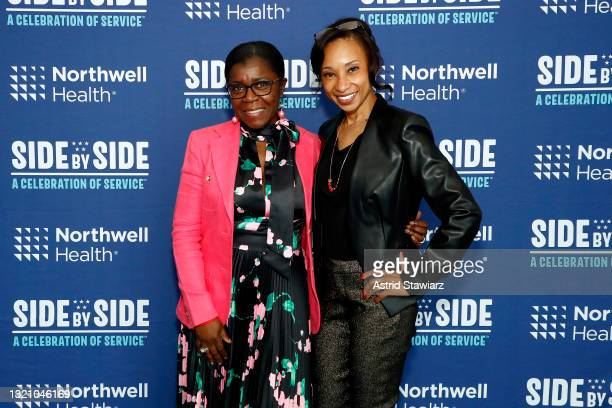 In this image released on May 31 Launette Woolforde and April Brown attend Northwell Health's 2021 Side By Side: A Celebration of Service™ on May 08,...