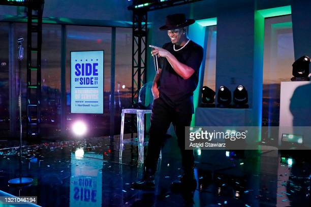 In this image released on May 31 NE-YO performs onstage during Northwell Health's 2021 Side By Side: A Celebration of Service™ on May 08, 2021 in New...